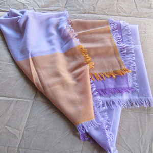Nordstrom 100% Cashmere Scarf in Lavender & Orange